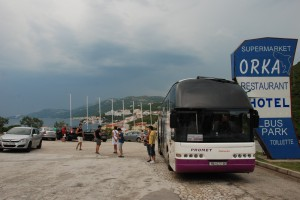Our stop in Bosnia on the road from Split to Dubrovnik
